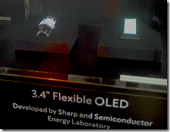 Sharp flexible OLED