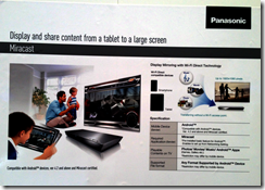 Panasonic description of Miracast