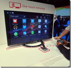 Sony showing Miracast from phone