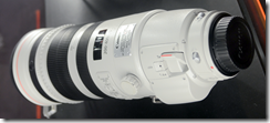 Canon 200-400 mm lens with integral 1.4x converter