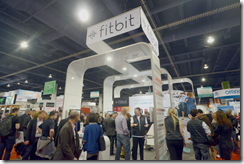 Large crowd at fitbit booth in health section
