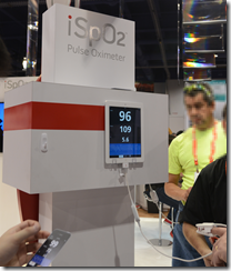 Pulse Oximeter in action