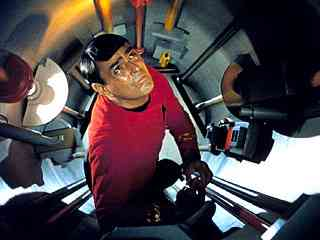 Star Trek's Scotty engineering in the Jeffries tubes.